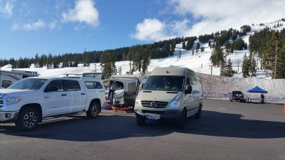 Sprinter Van Camping at Mt Bachelor