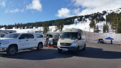 Sprinter Van Camping at Mt Bachelor