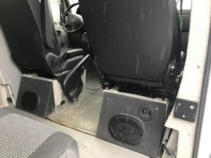 Sprinter Van stereo amplifier install