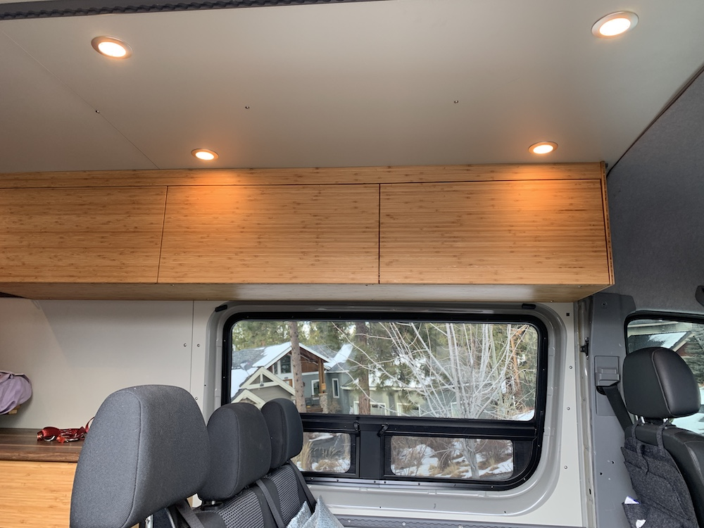 Sprinter LED Lighting and Cabinets